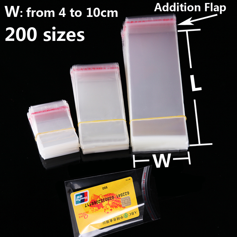 Clear Self-adhesive Cellophane Bags Self Sealing Poly Small Plastic Bags for Candy Gifts Packing Resealable Cookie Packaging Bag