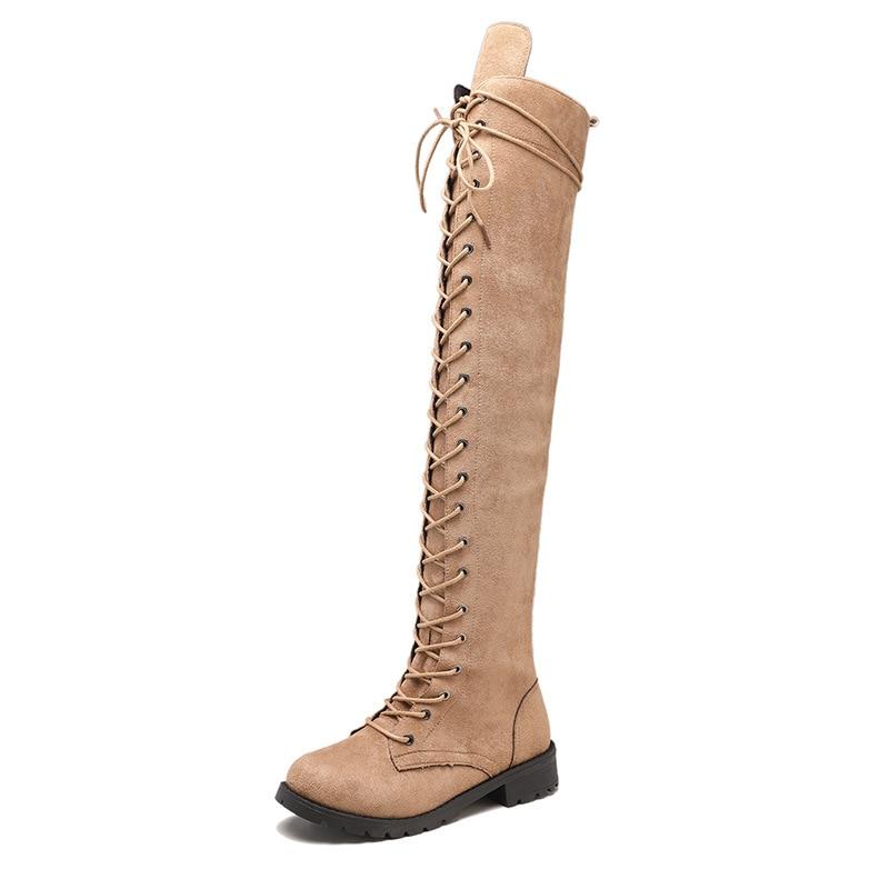 2018 hiver new suede femmes bottes de L'europe et les États-unis grande taille avant avec plat bottes de femmes chaussures gris 1105