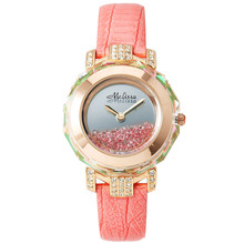 Melissa Lady Wrist Watch Quartz Hours Best Fashion woman Dress Bracelet Leather Crystal Luxury Rhinestones Girl