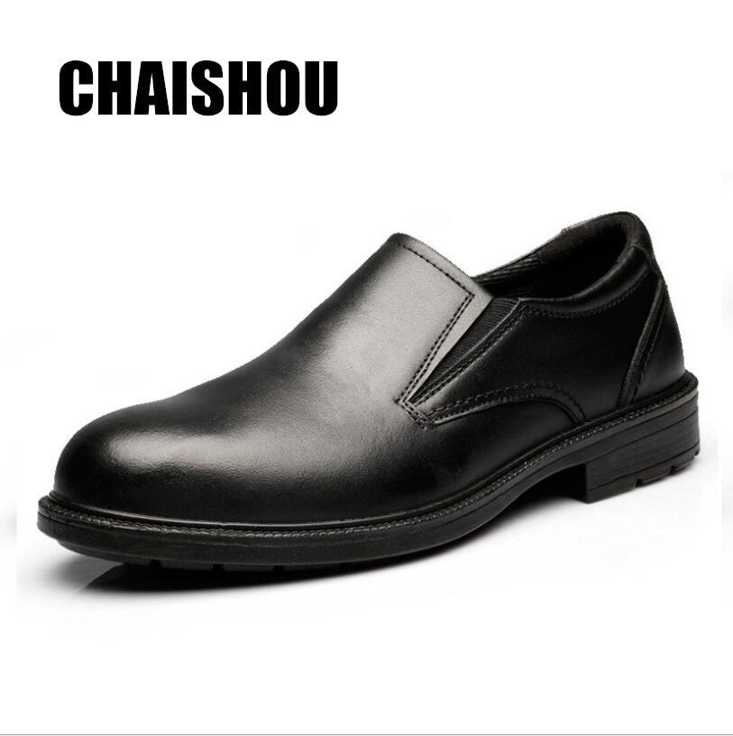 esmagamento Black Puncture Anti De Trabalham proof Cs Chaishou Genuíno Sapatos Botas Couro Do Trabalho 363 Segurança Homens 046w4aqx8