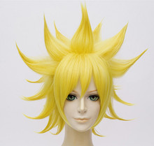 (Alice-Wig 016) Anime Aotu World God Rose Yellow Cosplay Wig cool nylon fans wig for brazilian world cup yellow green
