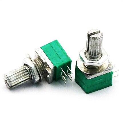 5pcs/lot RK097G 5K 10K 20K 50K 100K 500K B5K With A Switch Audio 6pin Shaft 15mm Amplifier Sealing Potentiometer In Stock