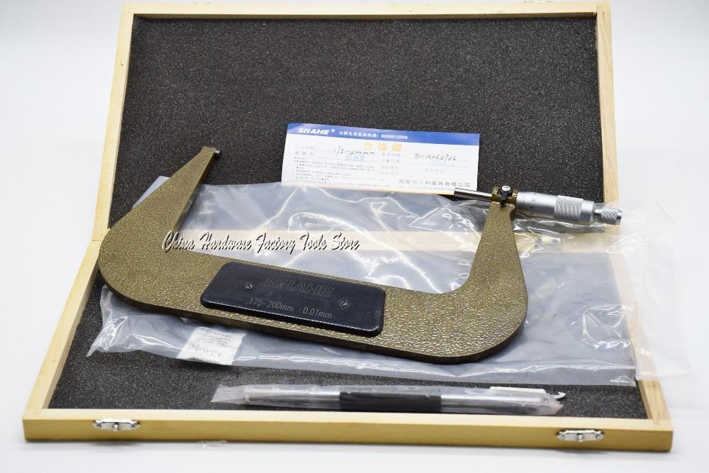 Shahe 175 - 200 mm boa qualidade alta precisão fora micrômetro