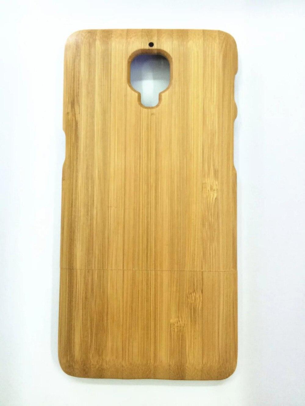 imágenes para Oneplus 3 genuine real caso de madera de bambú cubierta trasera original para uno más 3 tres a3003 concha protectora caso