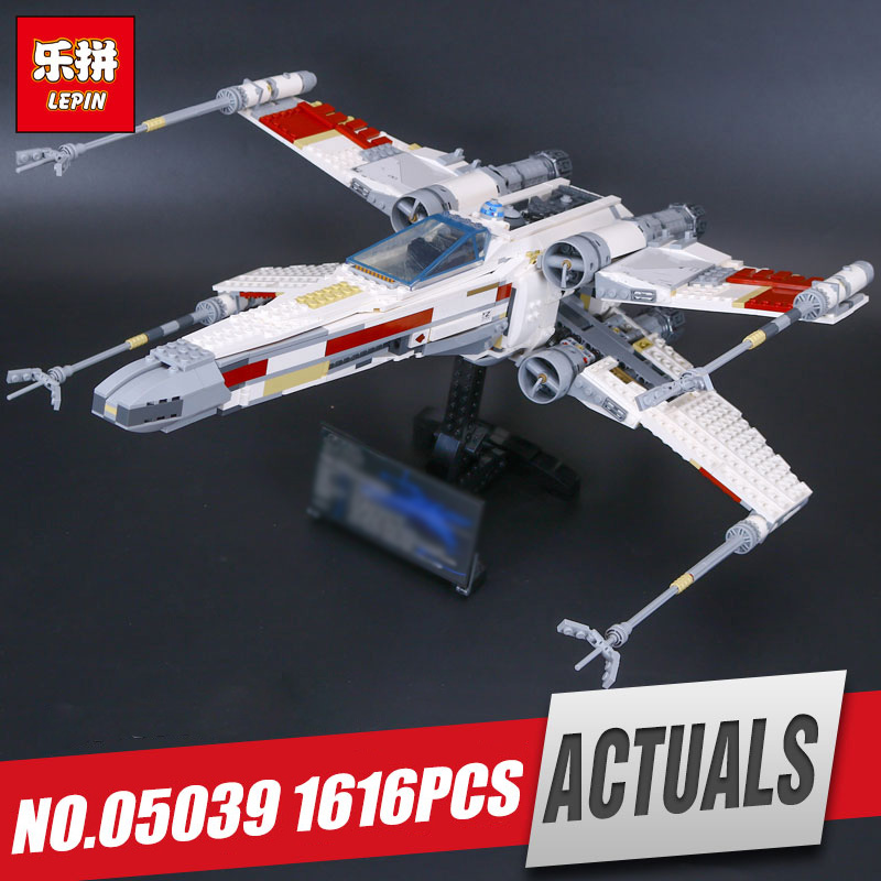Lepin 05039 Genuine Star Series Wars The X-toy wing Red Five Starfighter Educational Building Blocks Bricks legoing 10204 Toys lepin 05039 star wars red five x wing starfighter figure blocks construction building bricks toys for children compatible legoe