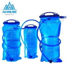 лучшая цена AONIJIE 1L/1.5L/2L/3L PEVA Water Bag Outdoor Cycling Running Foldable Sport Hydration Bladder For Camping Hiking Climbing