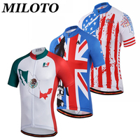 MILOTO Men Cycling Jersey Top Ropa Ciclismo Bike Team Short Sleeve Bike Wear Breathable T Shirt