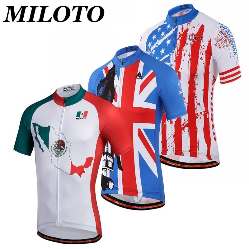 MILOTO Männer Radfahren Jersey Top Ropa Ciclismo Bike Team Kurzarm Fahrrad Tragen Atmungsaktiv T-shirt Kleidung