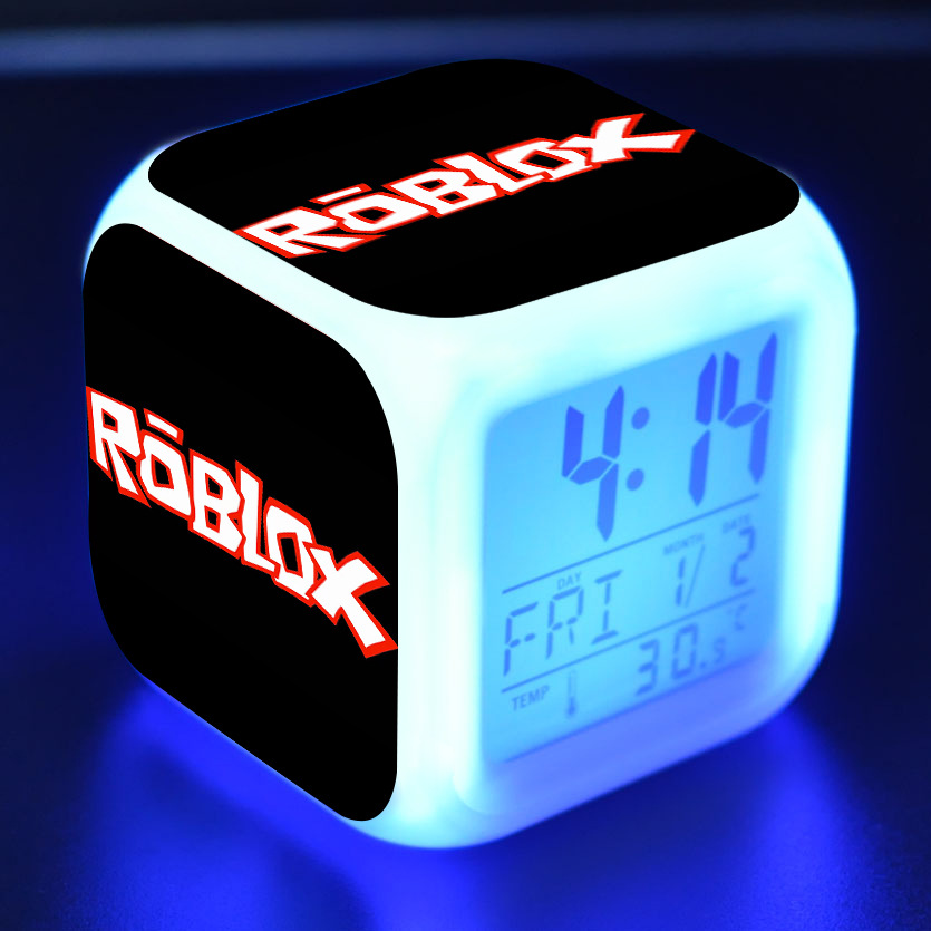 Action & Toy Figures Ambitious New Multifunction Roblox Alarm Clock With Led 7 Colors Light Wake Up Digital Night Electronic Action Figure Toys For Kid Gift Bringing More Convenience To The People In Their Daily Life