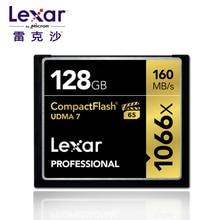 기발한!!! Lexar professional 128 gb 64 gb 32 gb 컴팩트 플래시 160 메가바이트/초 cf 메모리 카드 1066x udma7 VPG 65