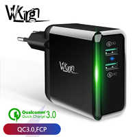 VVKing 2 USB Charger 36W Quick Charge 3.0 Fast Charger For iPhone Samsung Galaxy s9 Xiaomi Huawei LG Phone Double QC3.0 charger