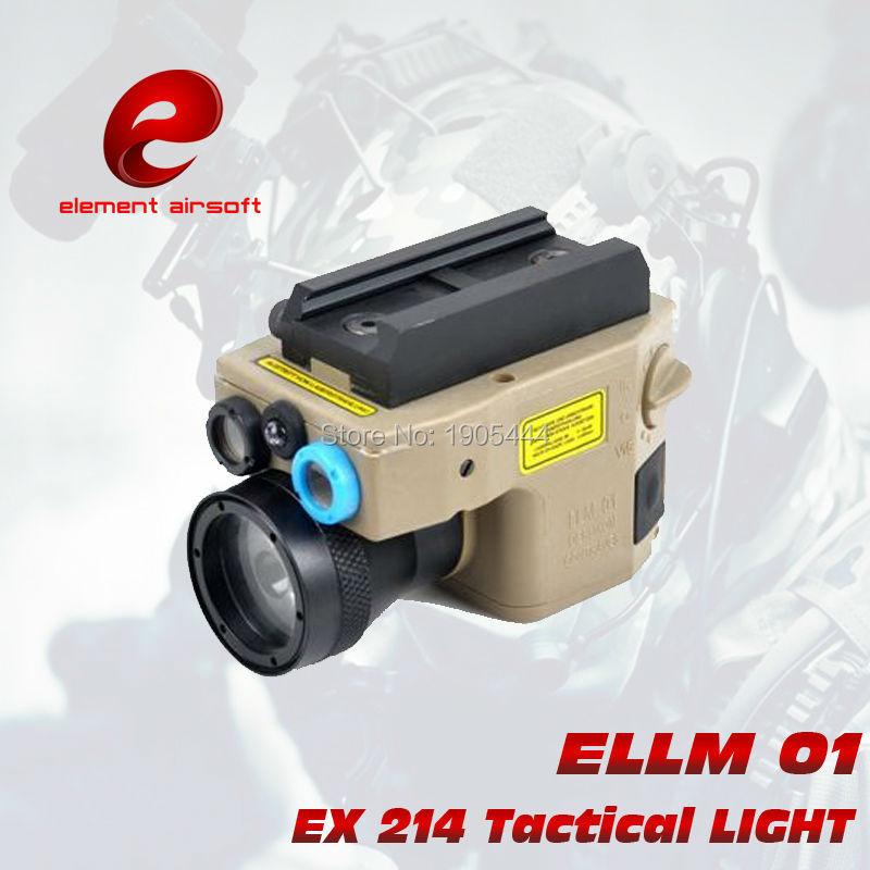 Élément de lumière de chasse torche Laser rouge tactique lampe de poche ELLM Softair Wapens Arsoft Armas Surefir lampe de poche pour pistolet
