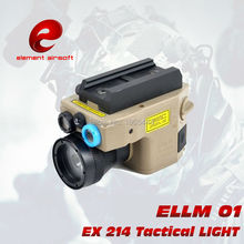 Wholesale prices EX 214 Hunting lights Element tactical light Red Laser/IR LED/ IR Laser Torch ELLM 01 Laser Pointer version Tactical Flashlight