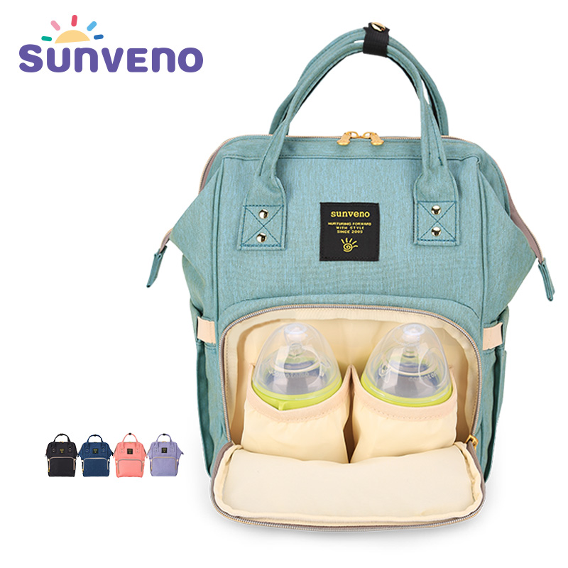 Sunveno Fashion Diaper Bag Multi function Maternity Nappy Bag Brand Baby Bag M S SizeTravel Backpack