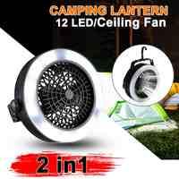 2 в 1 портативный на батарейках 12 LED вентилятор свет мини воздушный охладитель Открытый Кемпинг Палатка лампа подвесной крюк Фонарь Батарея