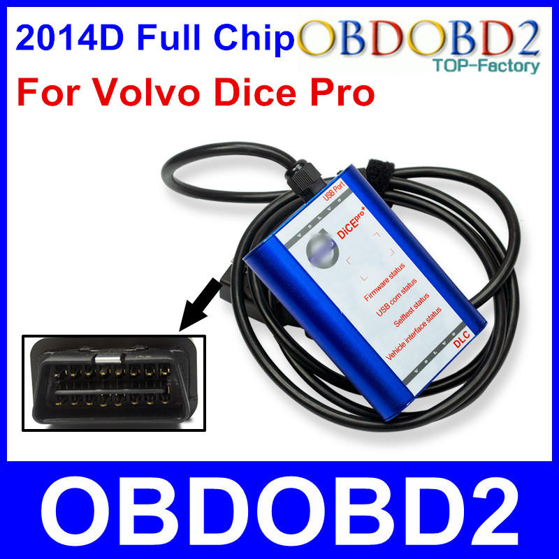Best Quality For VOLVO DICE PRO 2014D Full Chip Multi Languages Firmware Update Self Test J2534