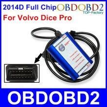 Najlepsza Jakość Dla VOLVO DICE PRO 2014D Pełne Wiórów Wielu Językach Aktualizacji oprogramowania i Samo-Test J2534 Protokół dla Volvo Vida Dice