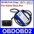 Melhor Qualidade Para VOLVO DICE PRO 2014D Chip Full Multi-Línguas Firmware Update & Self-Test J2534 Protocolo para a Volvo Vida Dice