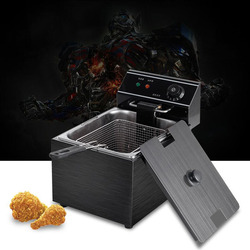 Electric blast furnace cylinder thickening fryer Grill Fried chicken Fried dough sticks furnace fries machine deep fryer 3.25kw