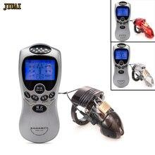 Electro Shock Polla jaula Kits hombre cinturón de castidad dispositivo  Shock eléctrico pene anillo médico de juguetes para hombr. 880e5bd9f1c
