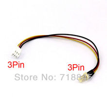 10pcs Lot 12V 3-Pin Male to 3-pin Female PC Fan Power Extension Lengthen Cable Wire