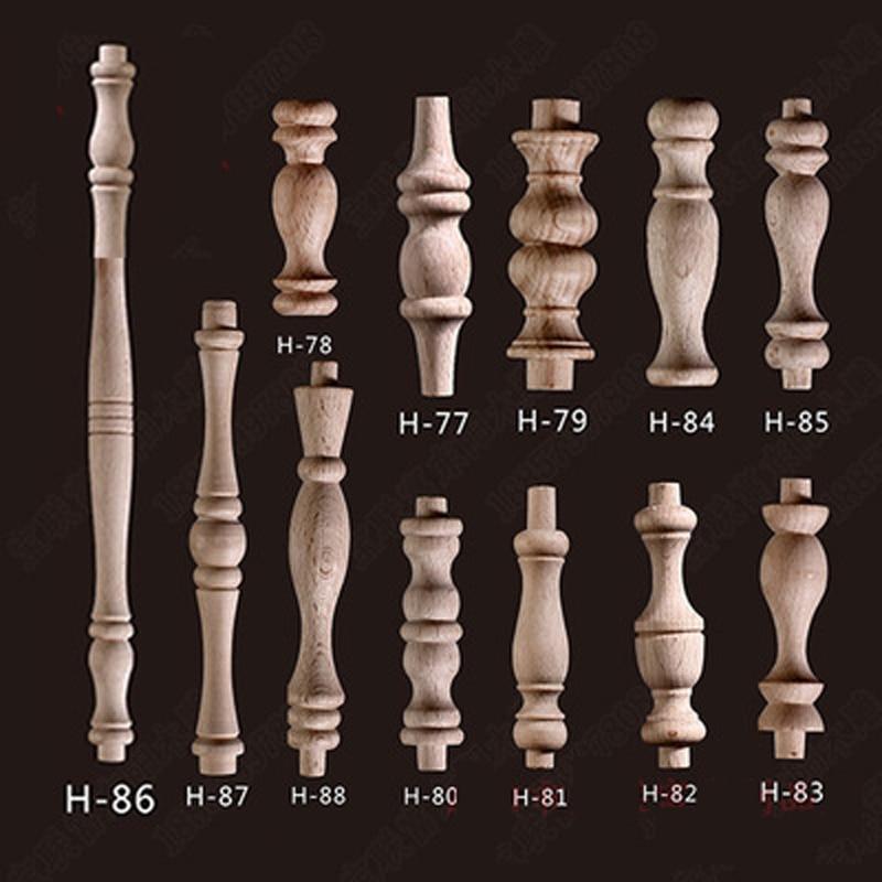 20 шт бук Неокрашенный Незаконченные деревянные ремесло шпинделей Балясины для Декор для дома ресторана декоративные элементы для ремонта