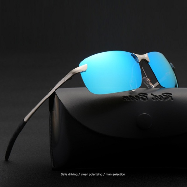 bba5b42b82 width-149 alloy Polarized rimless men s Retro brand Sunglasses Driver  Anti-Reflective UV400 Sun glasses female eyewear glasses
