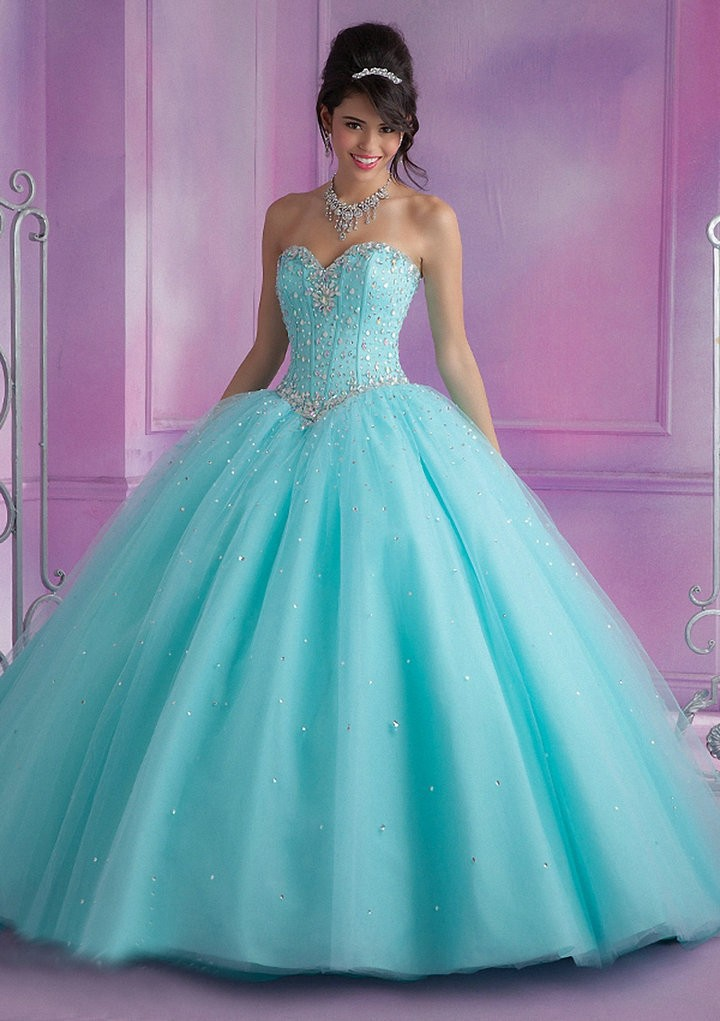 Popular Baby Blue Pink Quinceanera Dress-Buy Cheap Baby Blue Pink ...
