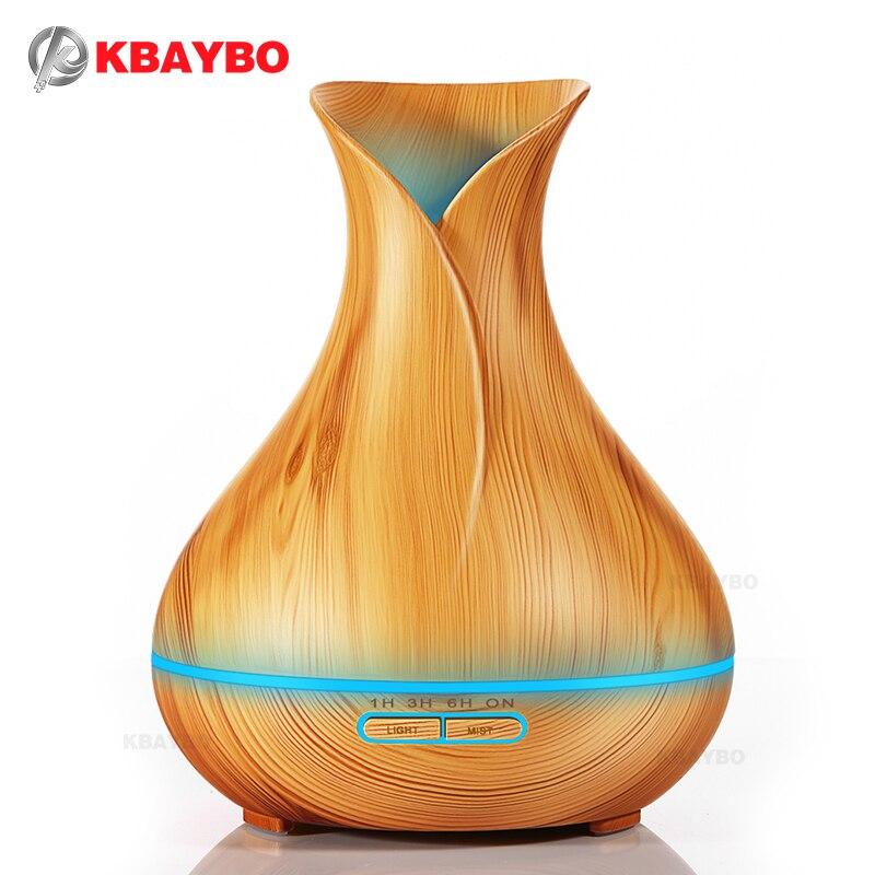 400 ml Ätherisches Öl Diffusor Holzmaserung Ultraschall Aroma Luftbefeuchter für Büro Schlafzimmer Baby Raum Studie Yoga Spa
