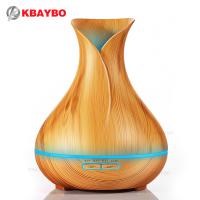 400ml Essential Oil Diffuser Wood Grain Ultrasonic Aroma Cool Mist Humidifier For Office Bedroom Baby Room
