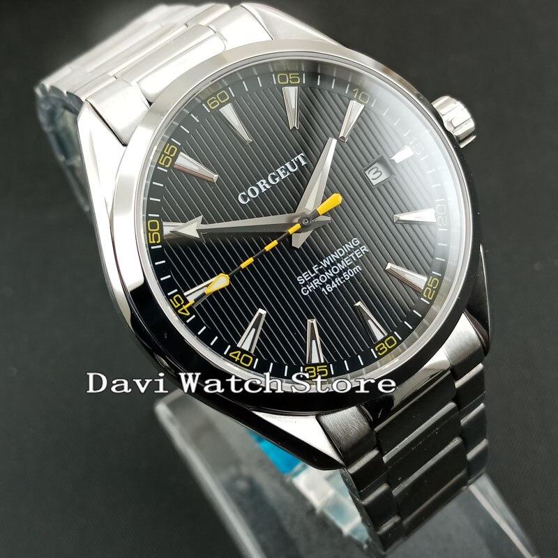 41 มม. Corgeut สีดำ Dial Sapphire คริสตัลนาฬิกา 2864-ใน นาฬิกาข้อมือกลไก จาก นาฬิกาข้อมือ บน   3
