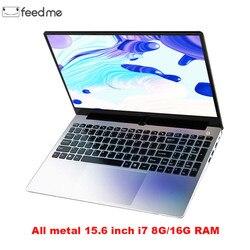 Металлический корпус 15,6 дюймов Intel i7 4500U ноутбук 8 ГБ/16 ГБ ОЗУ 1080P IPS ноутбук Windows 10 двухдиапазонный WiFi полноразмерная клавиатура