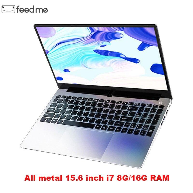 Carcasa de Metal 15,6 pulgadas Intel i7 4500U portátil 8 GB/16 GB RAM 1080P IPS portátil Windows 10 teclado de diseño completo WiFi de doble banda