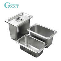GZZT Stainless Steel 1/9 Buffet Gastronorm Pan With Pan Lid American Style 0.6mm Thickness Buffet Kitchen GN Pan Tableware
