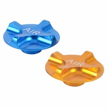 ZTTO CNC Mountain Bike Air Gas Fork Value Cover MTB Front Fork Cap Protector Bicycle Parts Gold Blue