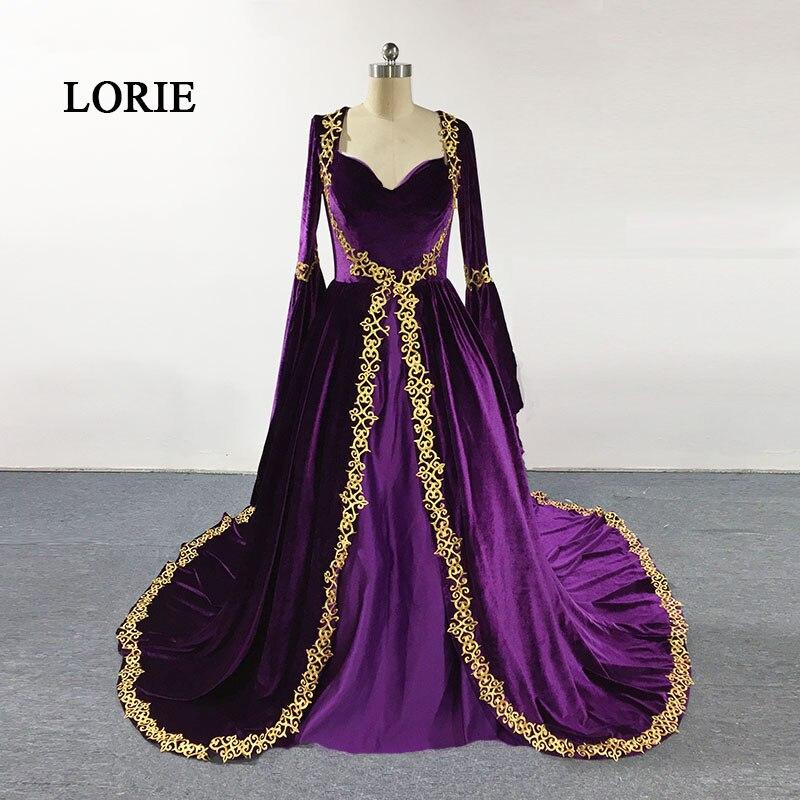 LORIE Moroccan Kaftan Arabic   Evening     Dress   Sweethear Ball Gown Beaded Long Sleeve Muslim Prom   Dress   Dubai Abaya Party Gown 2017