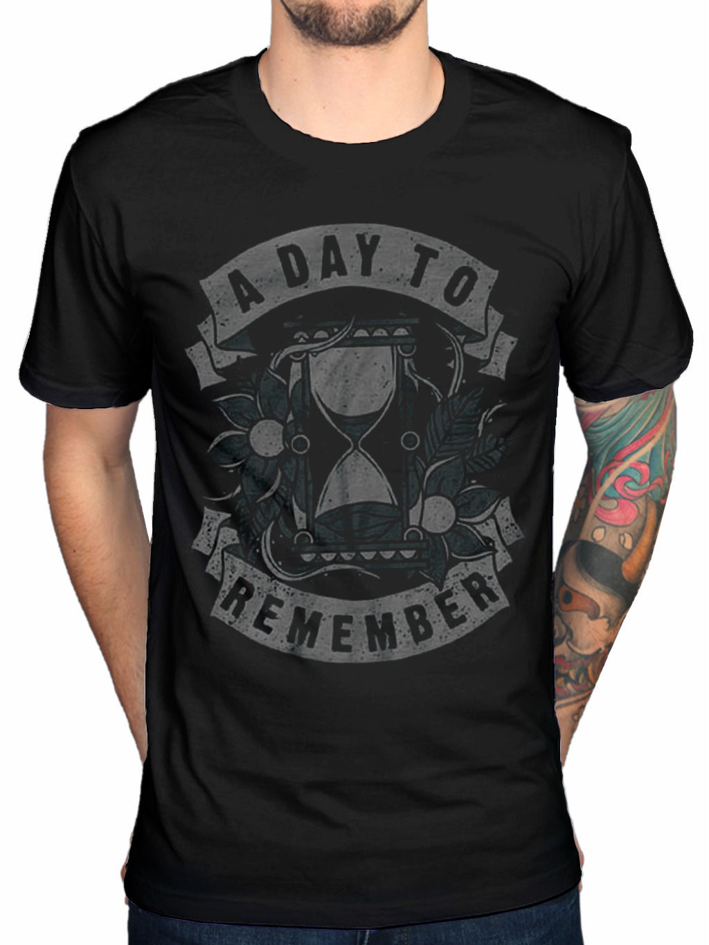 Gildan 2017 Customize A Day To Remember Hourglass T Shirt Jeremy Mckinnon Common Courtesy Cb Printed T Shirt O-Neck Cool Tops