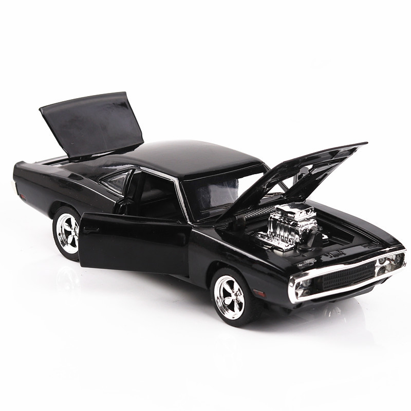 1:32 The Fast Furious 7 Simulation Car Of Model Alloy Diecasting Inertial Return  Car Dodge Charger Muscle Vehicle Children Toys