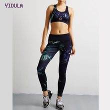 Tiger Printed Women's Yoga Set Padded impact Sports Bra Elastic Gym Slim Legging Yoga Sports Workout Leggings Pants 2 Pieces