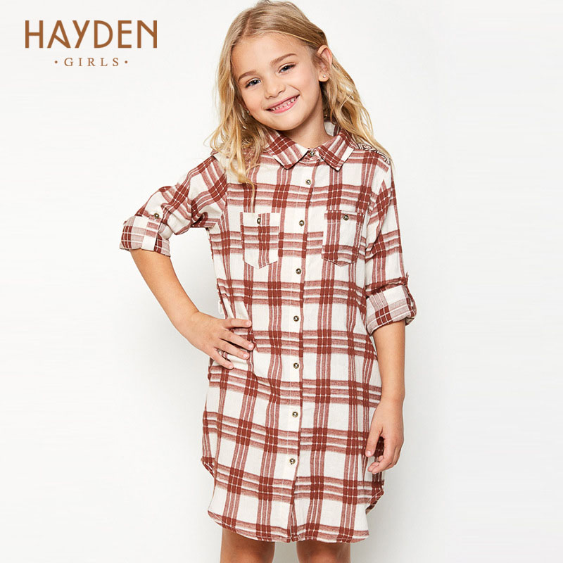 HAYDEN teenage girls dresses grid summer spring 8 9 10Y princess costumes girl clothes for girls 13 years teens fashion clothing hayden girls boho ethnic dress designs teenage girls national embroidered dresses flare sleeve loose fit dress for 7 to 14 years