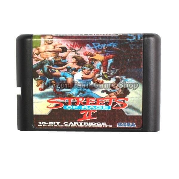 The Street Of Rage II 16 Bit Game Card For Sega Mega Drive & Sega Genesis