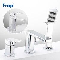Frap Ванна Смесители для ванной комнаты кран на бортике смеситель для душа Ванная раковина кран хром смеситель, кран F1146 + F1046