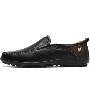 Image 2 - Men Shoes Casual Luxury Brand 2019 Genuine Leather Italian Men Loafers Moccasins Slip on Mens Boat Shoes Black Plus Size 37 47
