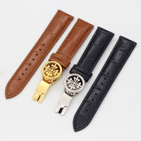 New Fashion genuine leather watch strap 19MM 20MM 22MM Watchbands For PP Wath bands With Stainless Steel Deploy Clasp Men Women