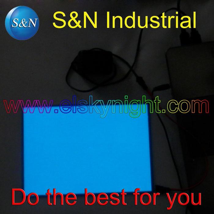 A5-kokoinen sininen arkki el-paneelin taustavalo 5 V: n USB-ohjaimella. Palaa jatkuvasti mainontaa tai koristelua varten