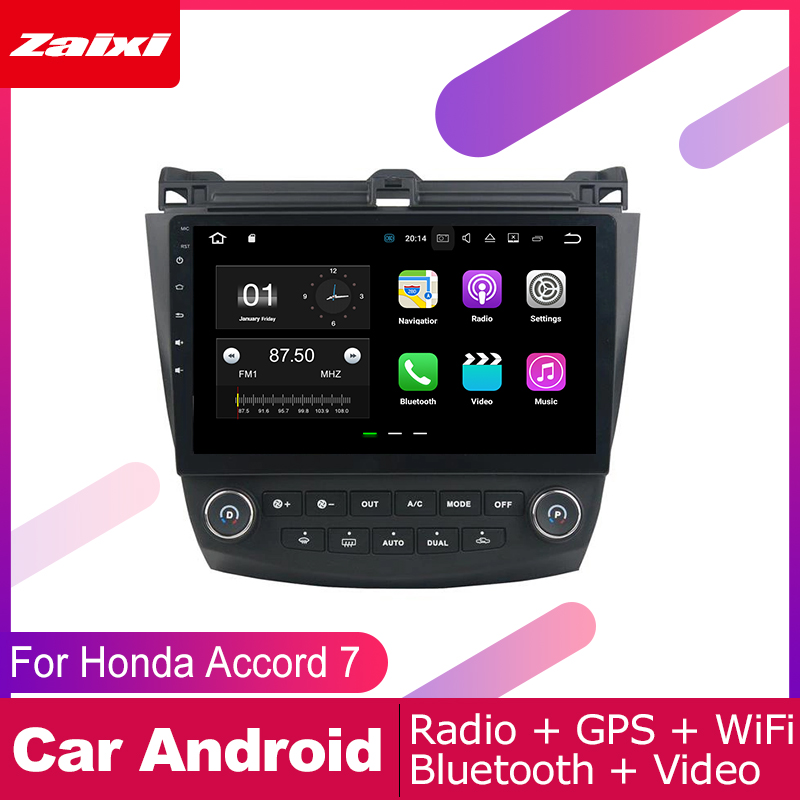 ZaiXi 2 DIN Auto Player GPS Navi Navigation For Honda Accord 7 2003 2007 Car Android Multimedia System Screen Radio Stereo in Car Multimedia Player from Automobiles Motorcycles