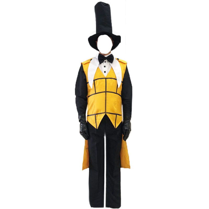 free shipping Anime! Gravity Falls Bill Cipher Uniform Cosplay Costume Mystery Attack Outfit Bill and Will Halloween Funny Suit