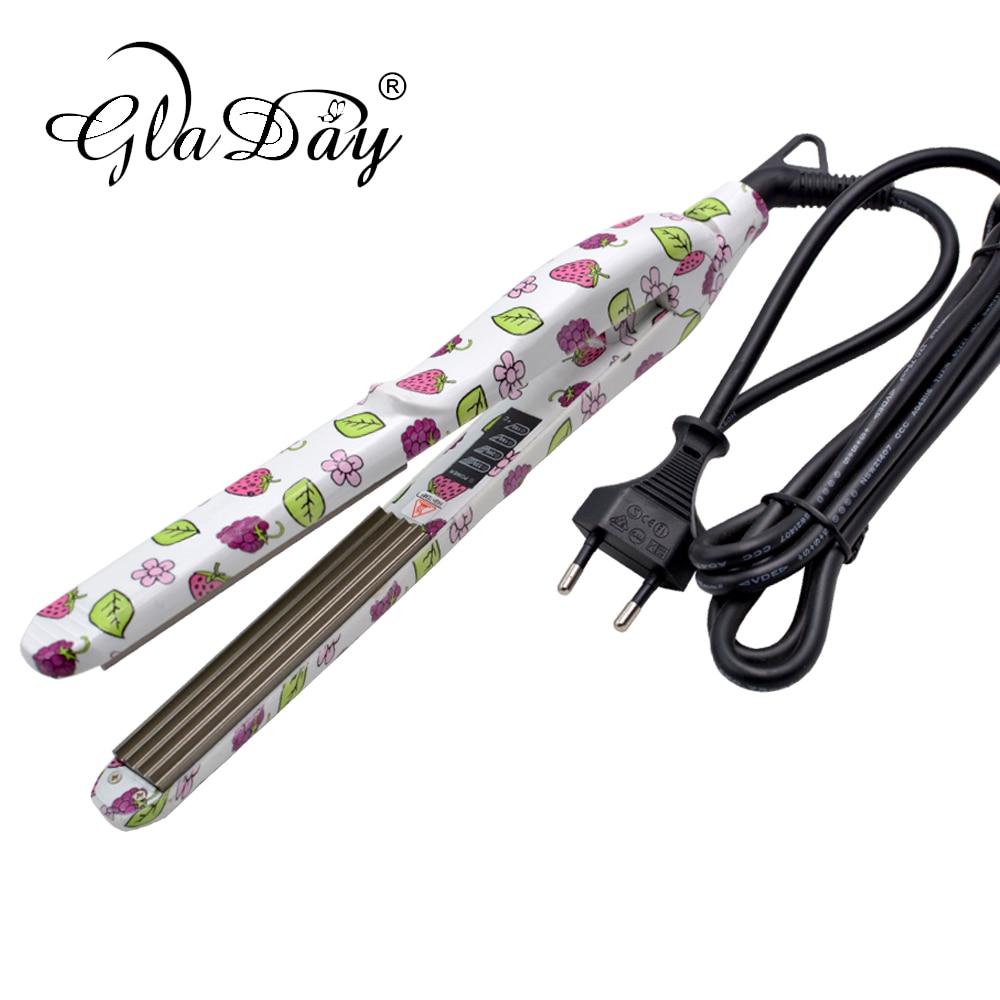 Купить с кэшбэком Professional Hair Straightener Straightening Iron Corrugated Hair Crimper Styling Tools
