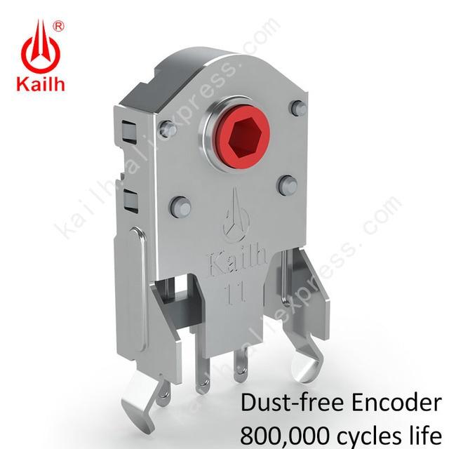 Kailh 7/8/9/10/11/12mm 로터리 마우스 스크롤 휠 인코더 1.74mm 홀 20 40g 포스 PC 마우스 alps 엔코더 800,000 수명주기