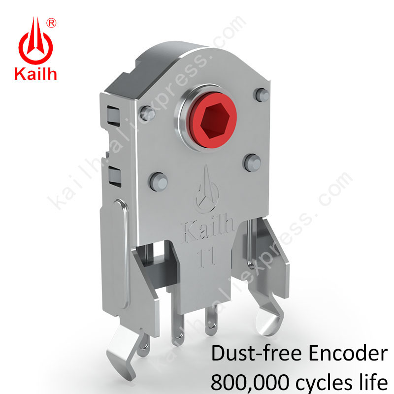 Kailh 7 8 9 10 11 12mm Rotary Mouse Scroll Wheel Encoder 1 74 mm hole 20-40g force for PC Mouse alps encoder 800000 life cycles